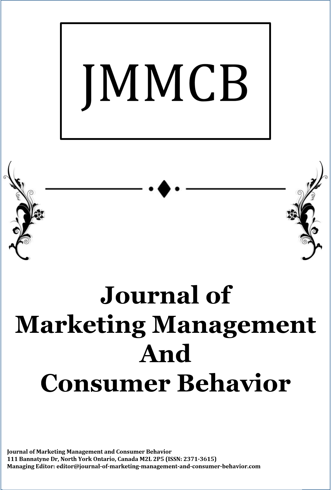 Journal of Marketing Management and Consumer Behavior